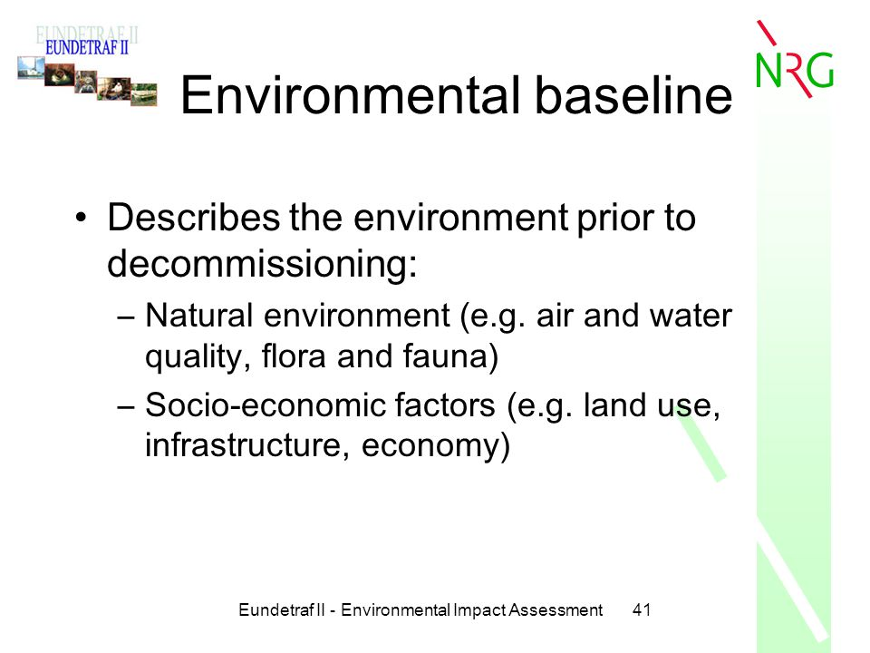 Environmental baseline