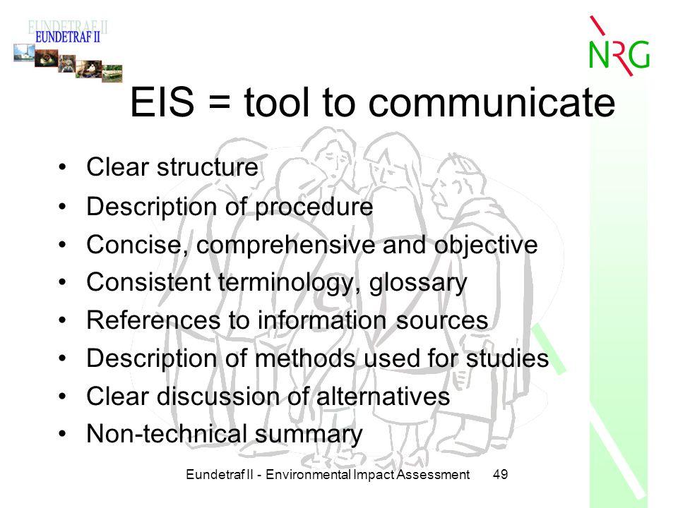 EIS = tool to communicate