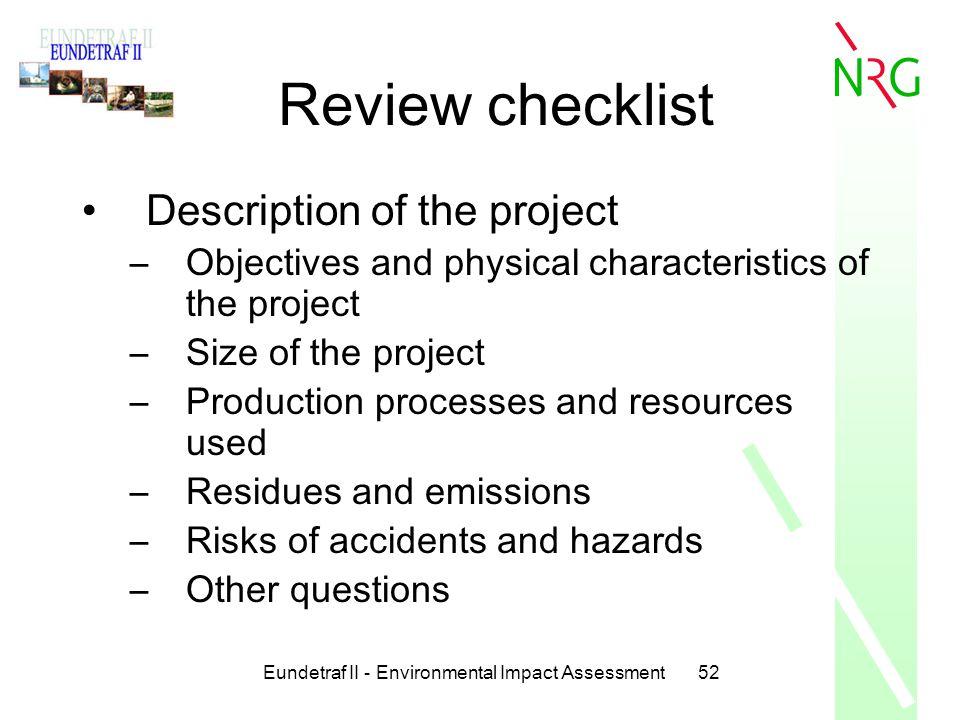 Eundetraf II - Environmental Impact Assessment