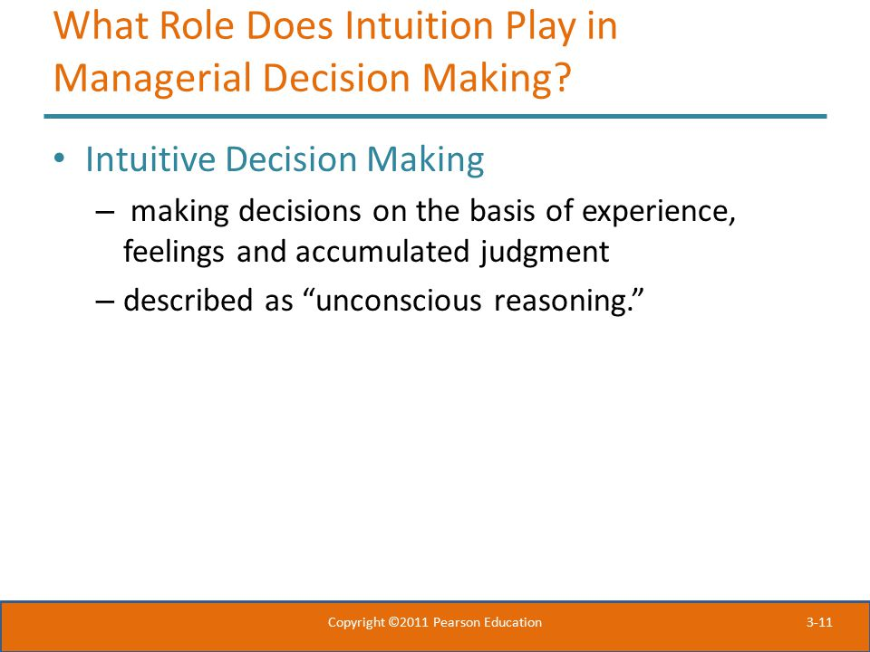 What Role Does Intuition Play in Managerial Decision Making