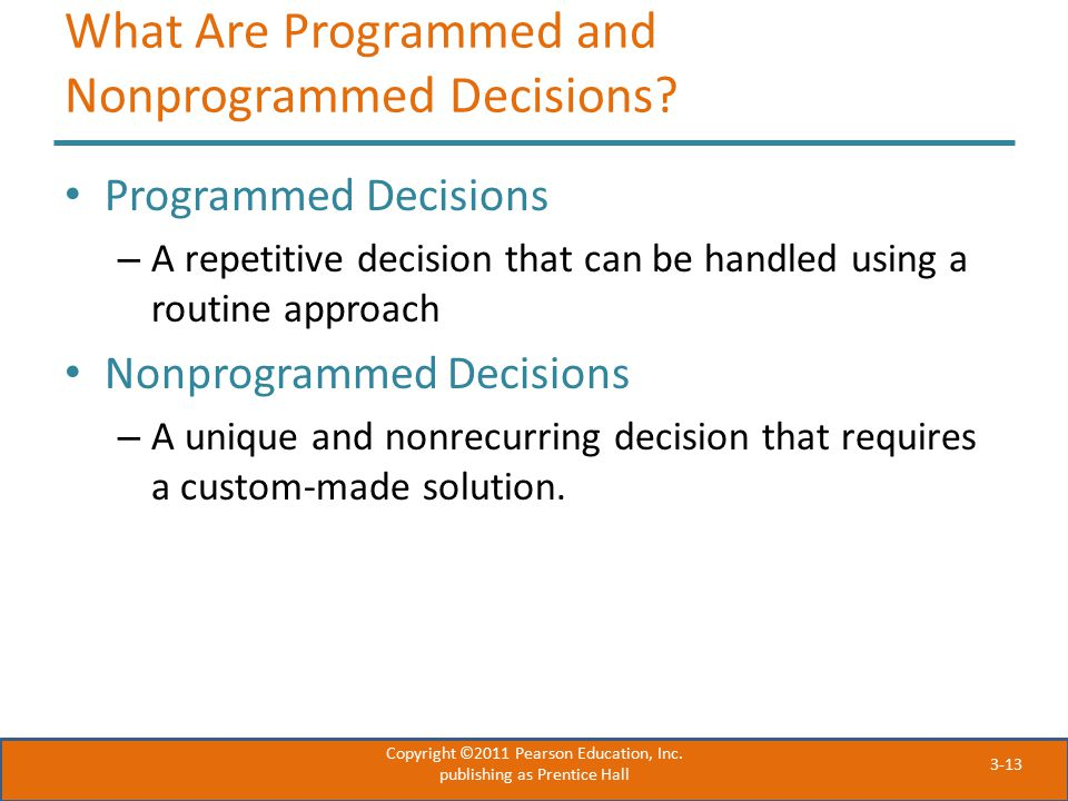 What Are Programmed and Nonprogrammed Decisions