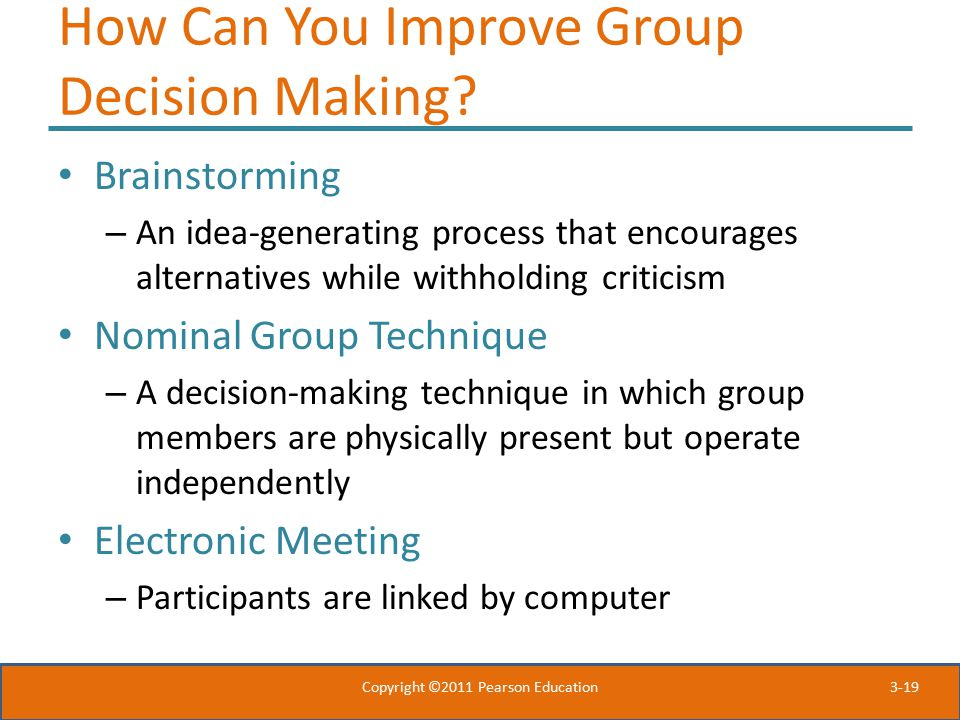 How Can You Improve Group Decision Making