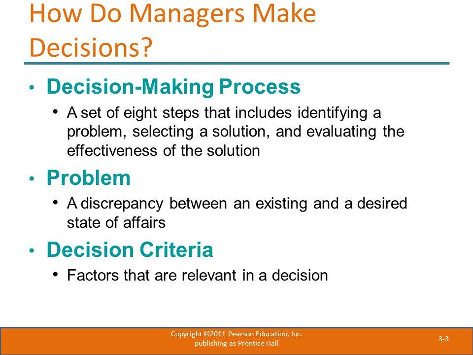 How Do Managers Make Decisions