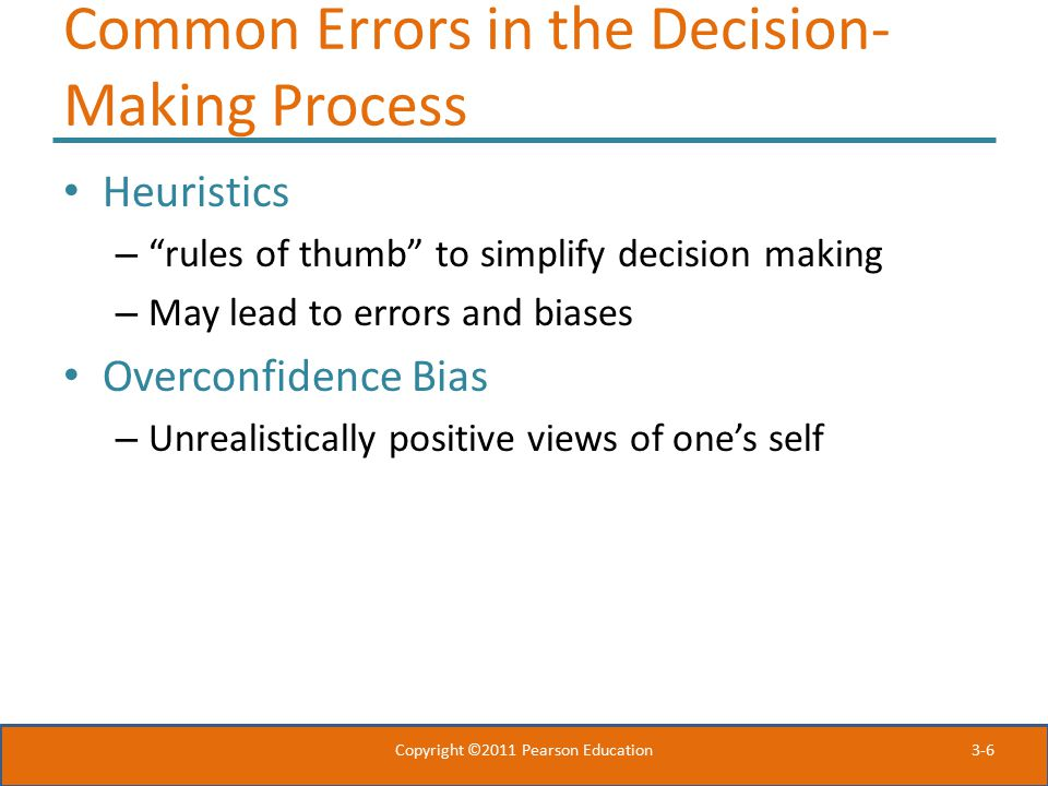Common Errors in the Decision-Making Process