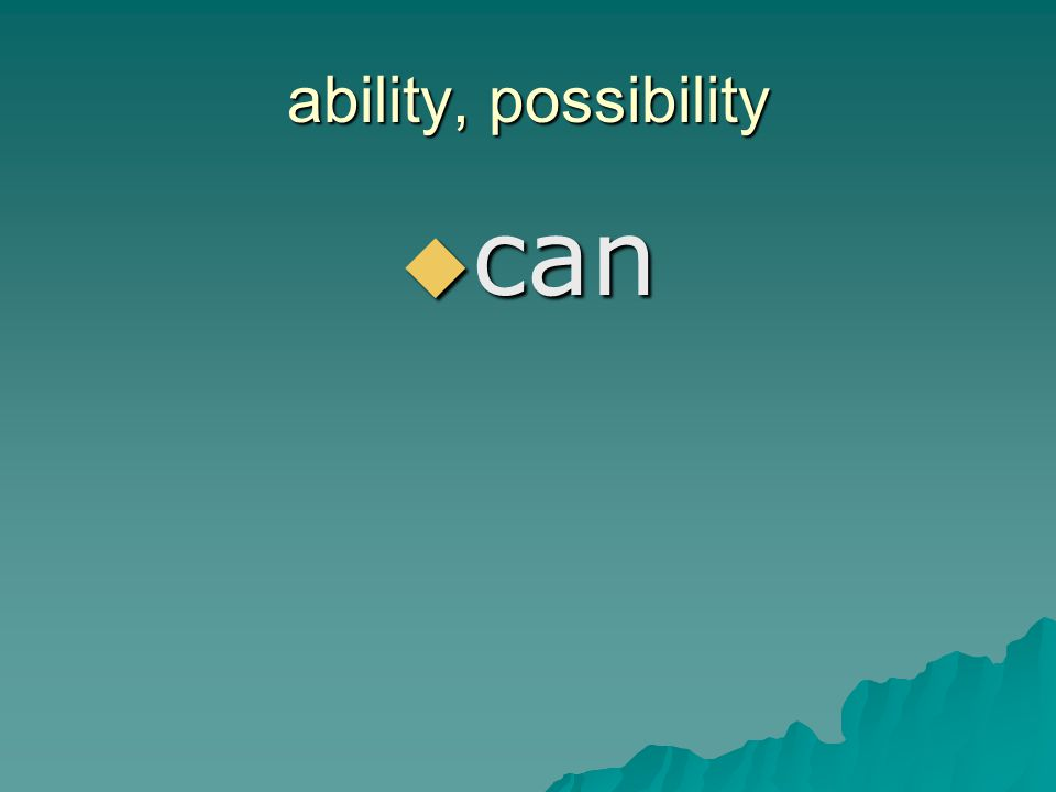 ability, possibility can