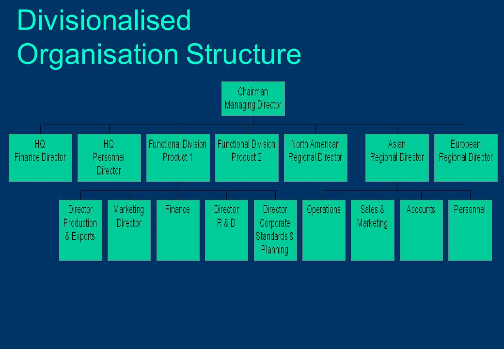 Divisionalised Organisation Structure