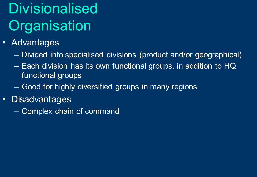 Divisionalised Organisation