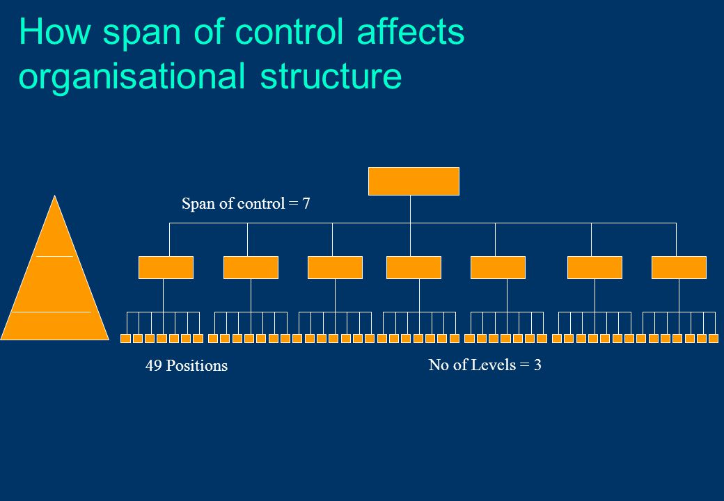 How span of control affects organisational structure