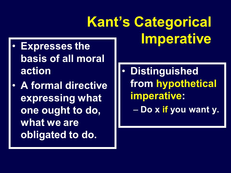 Kant's Categorical Imperative