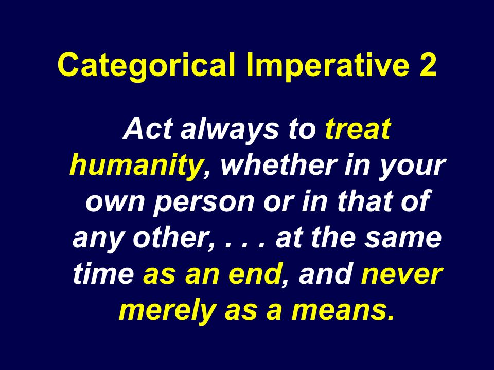 Categorical Imperative 2