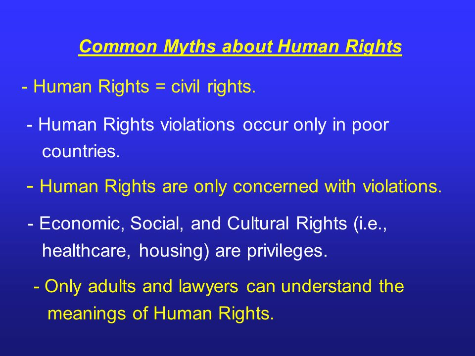 - Economic, Social, and Cultural Rights (i.e.,