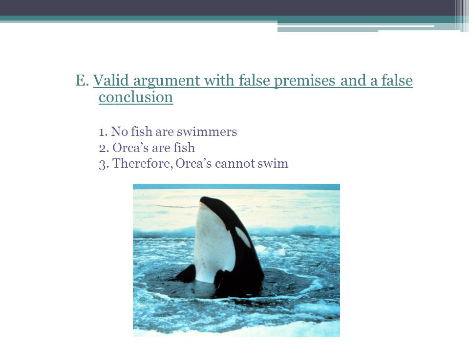 E. Valid argument with false premises and a false conclusion