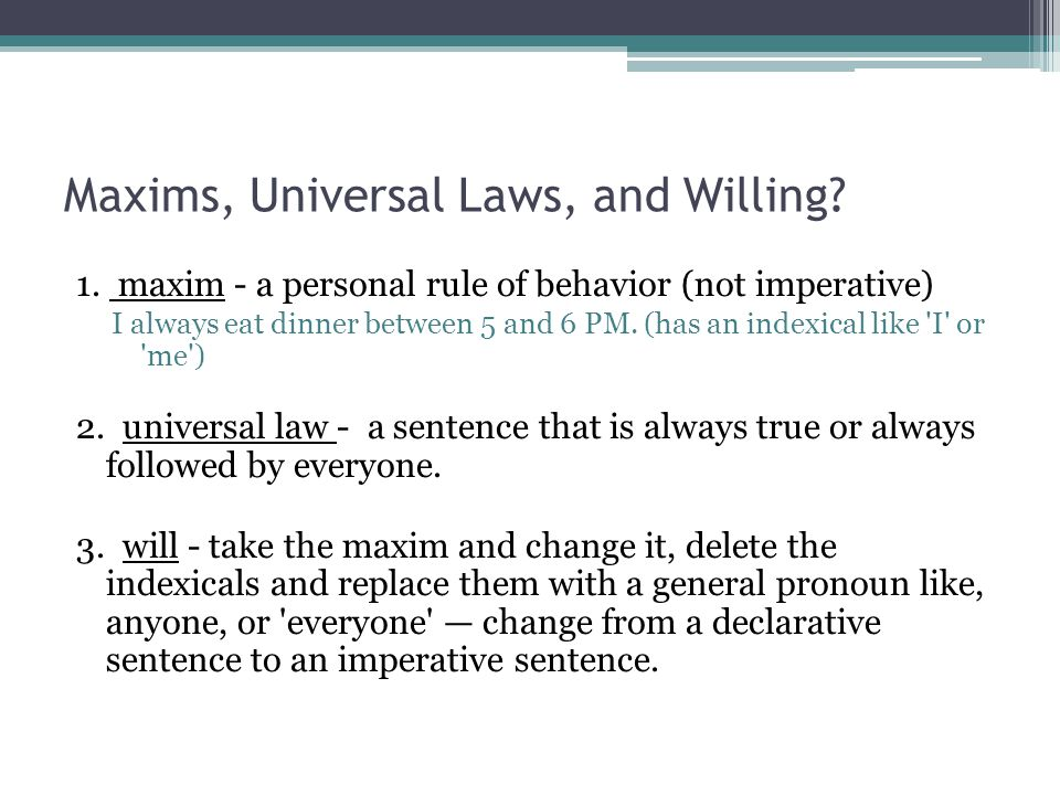 Maxims, Universal Laws, and Willing