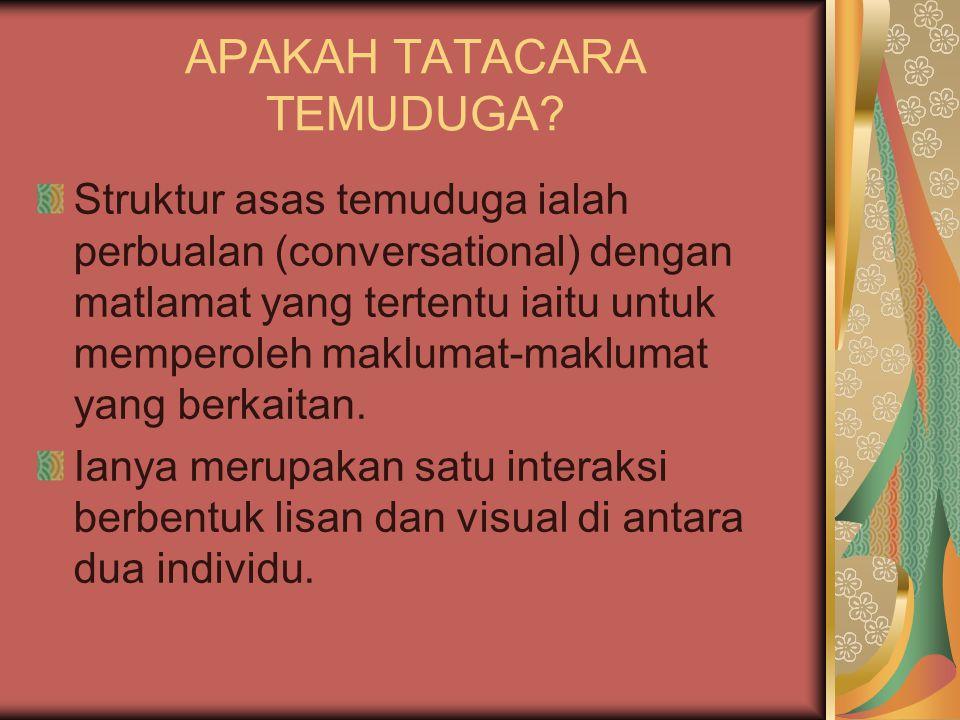 APAKAH TATACARA TEMUDUGA