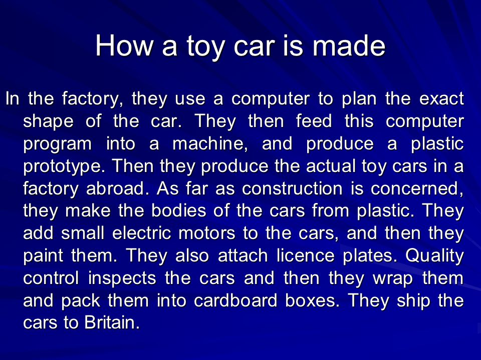 How a toy car is made