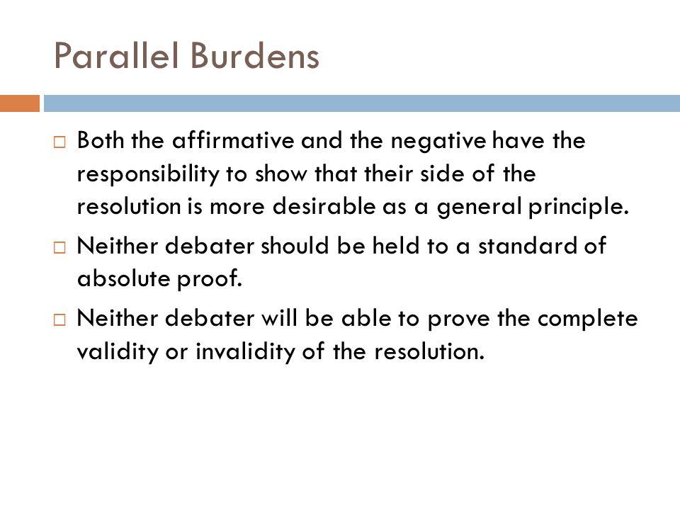 Parallel Burdens