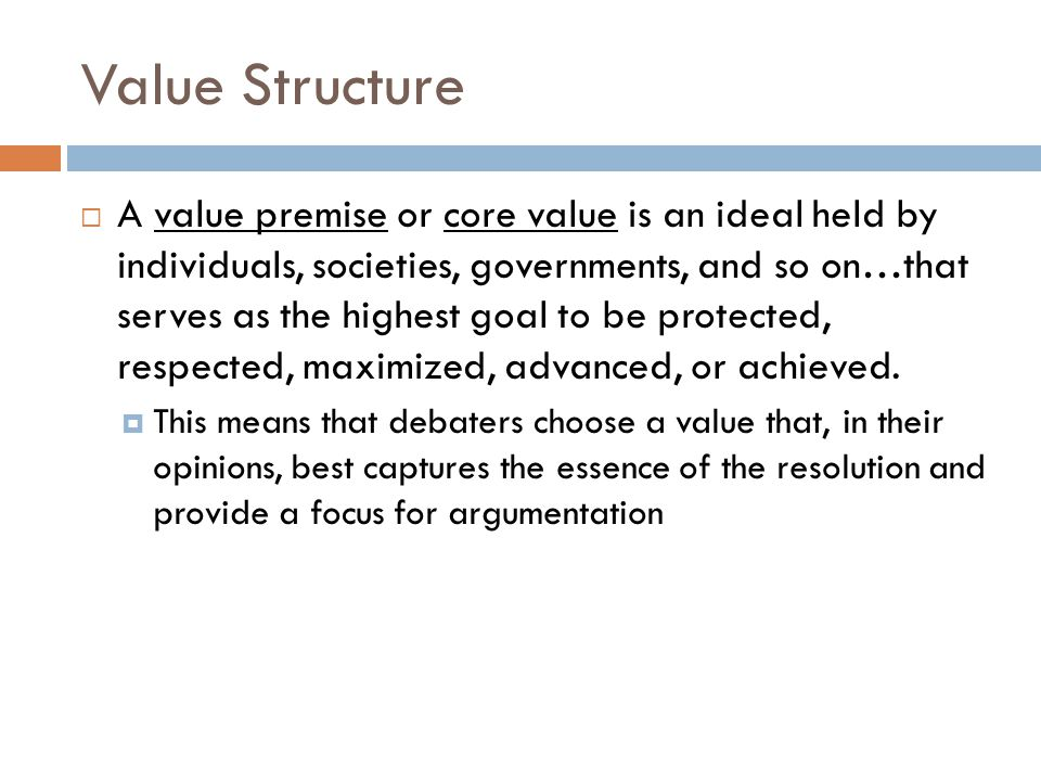 Value Structure