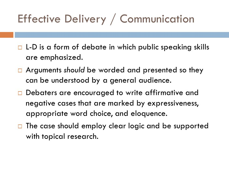 Effective Delivery / Communication