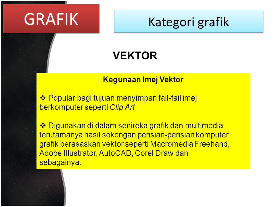 GRAFIK Kategori grafik VEKTOR Kegunaan Imej Vektor