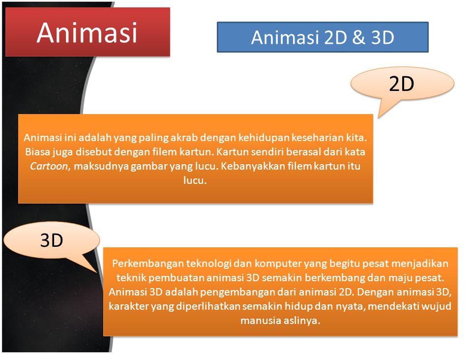 Animasi Animasi 2D & 3D. 2D.