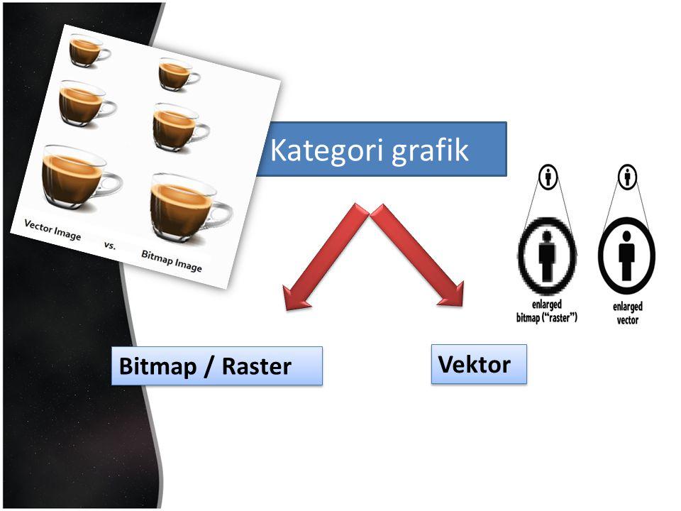 Kategori grafik Bitmap / Raster Vektor