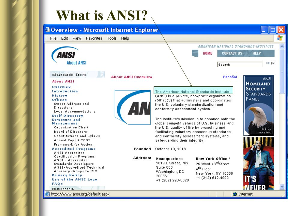 What is ANSI .