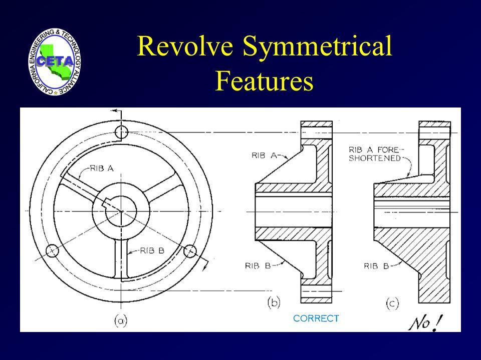 Revolve Symmetrical Features
