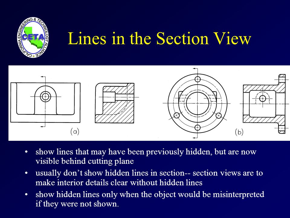 Lines in the Section View