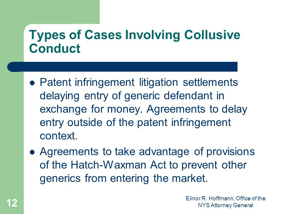 Types of Cases Involving Collusive Conduct
