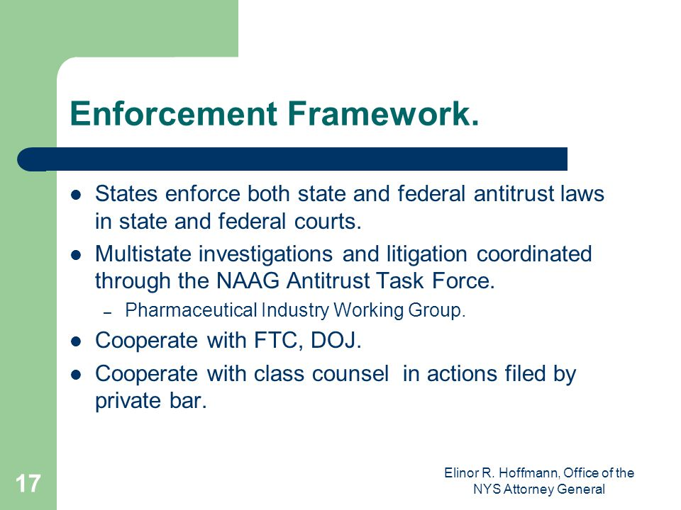 Enforcement Framework.