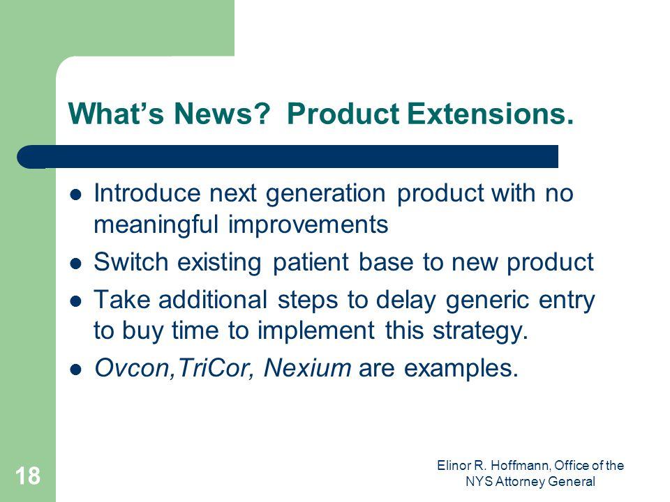 What's News Product Extensions.
