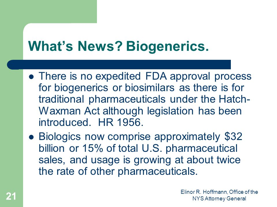 What's News Biogenerics.