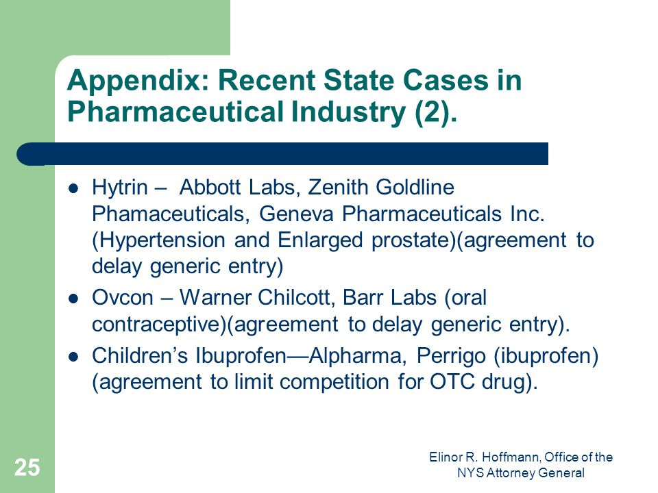Appendix: Recent State Cases in Pharmaceutical Industry (2).