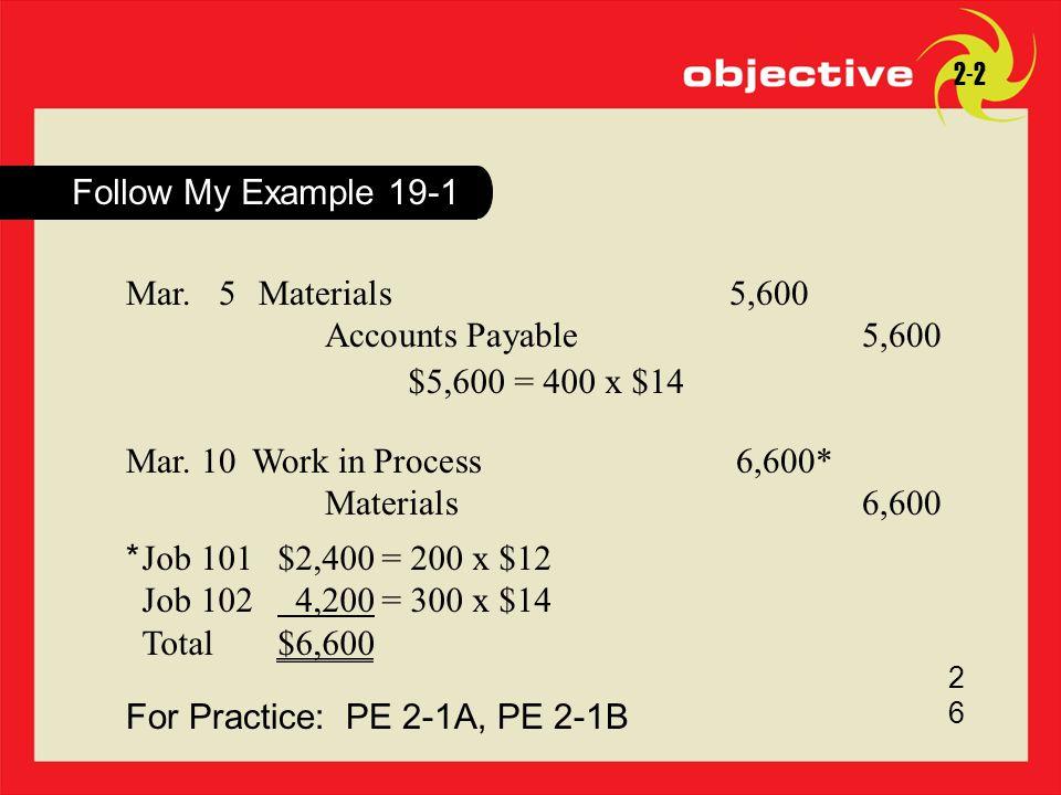For Practice: PE 2-1A, PE 2-1B