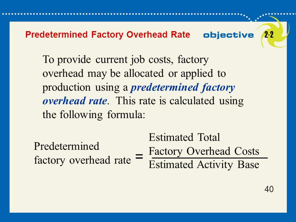 Predetermined Factory Overhead Rate 2-2.