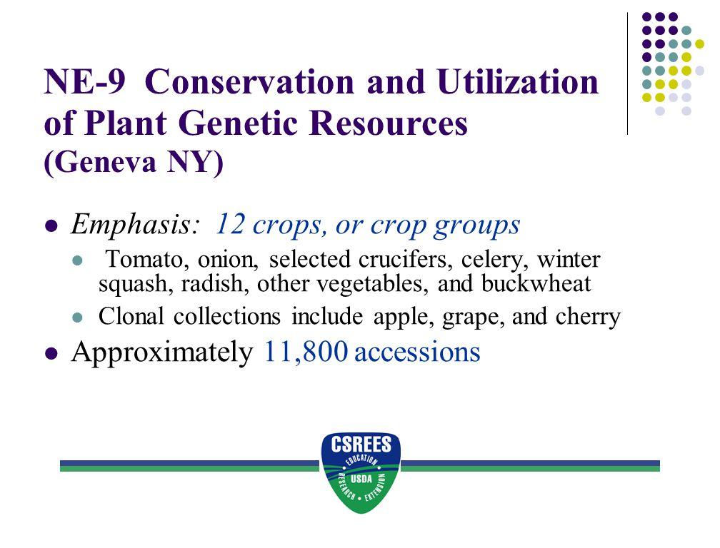 NE-9 Conservation and Utilization of Plant Genetic Resources (Geneva NY)