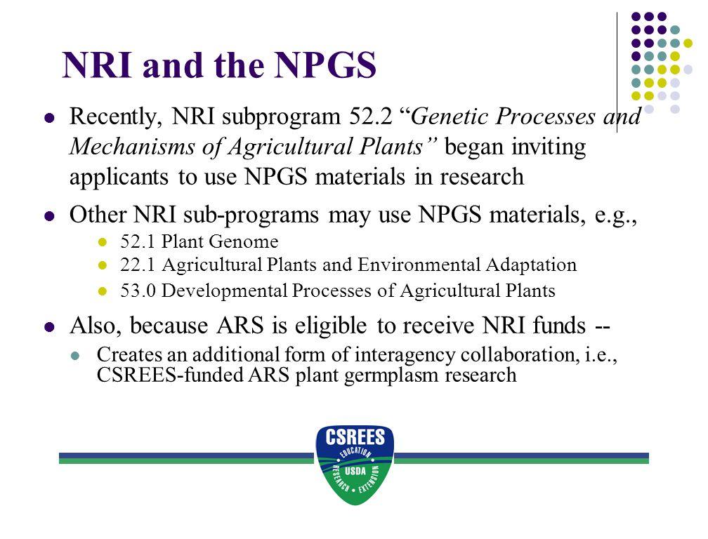 NRI and the NPGS
