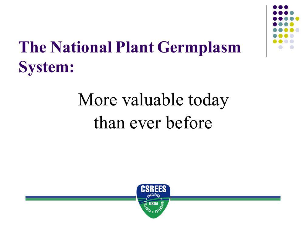 The National Plant Germplasm System: