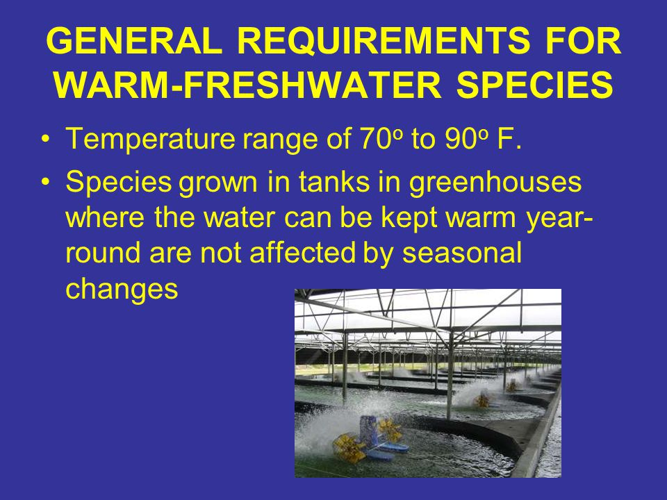 GENERAL REQUIREMENTS FOR WARM-FRESHWATER SPECIES