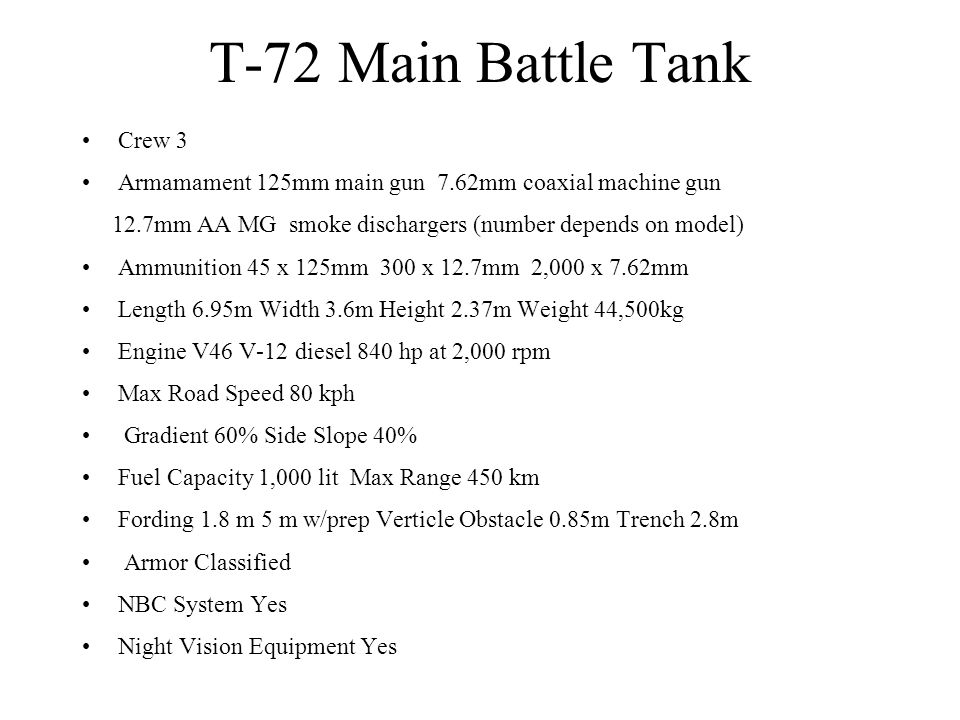 T-72 Main Battle Tank Crew 3