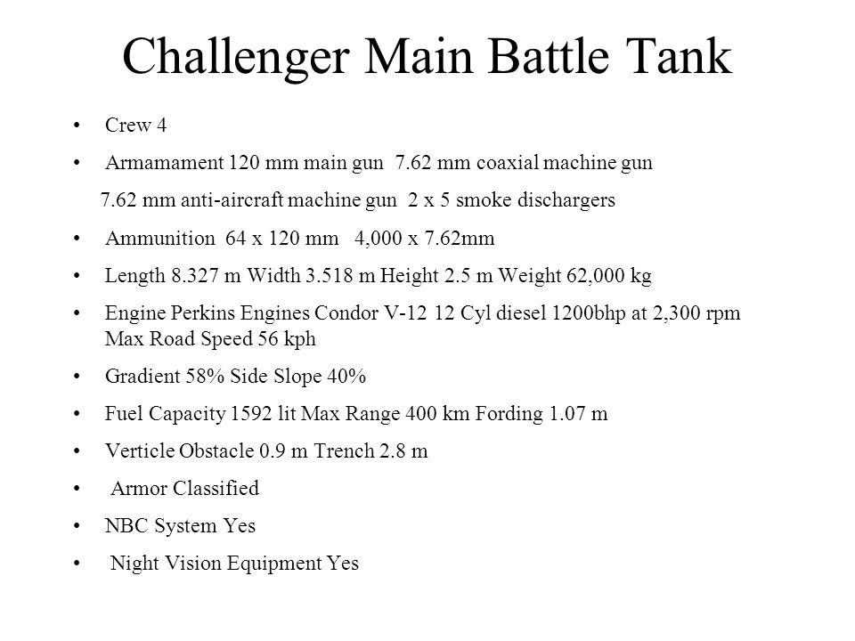 Challenger Main Battle Tank
