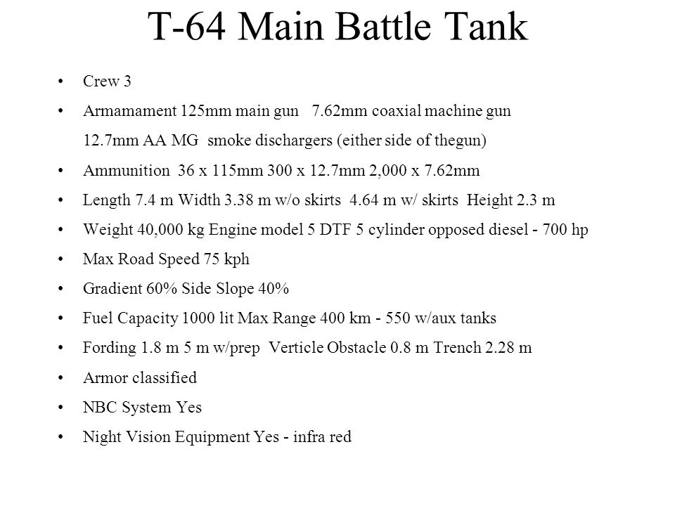 T-64 Main Battle Tank Crew 3