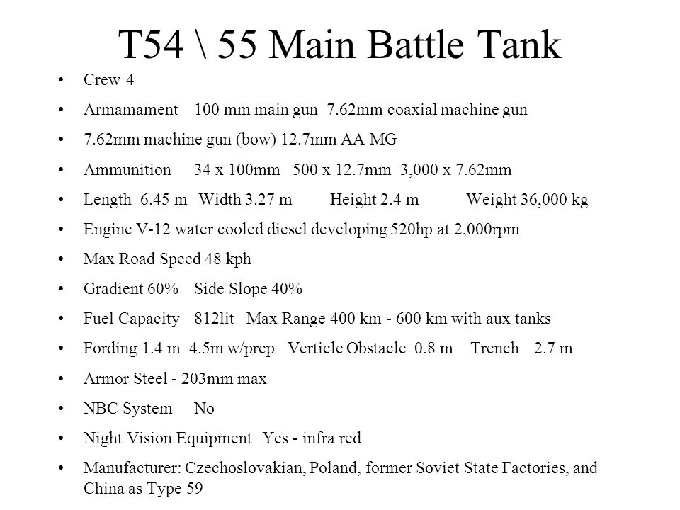T54 \ 55 Main Battle Tank Crew 4
