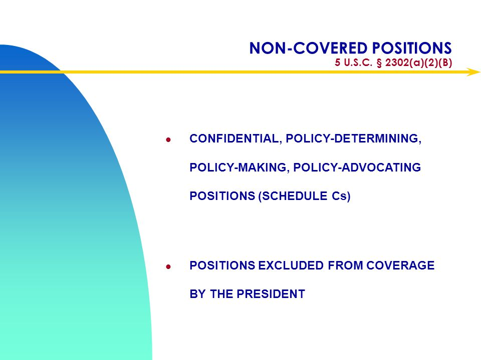 NON-COVERED POSITIONS 5 U.S.C. § 2302(a)(2)(B)