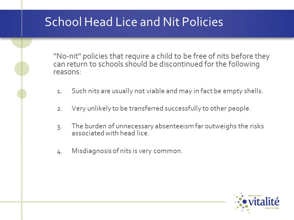 School Head Lice and Nit Policies