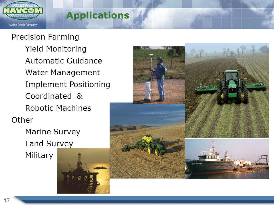 Applications Precision Farming Yield Monitoring Automatic Guidance