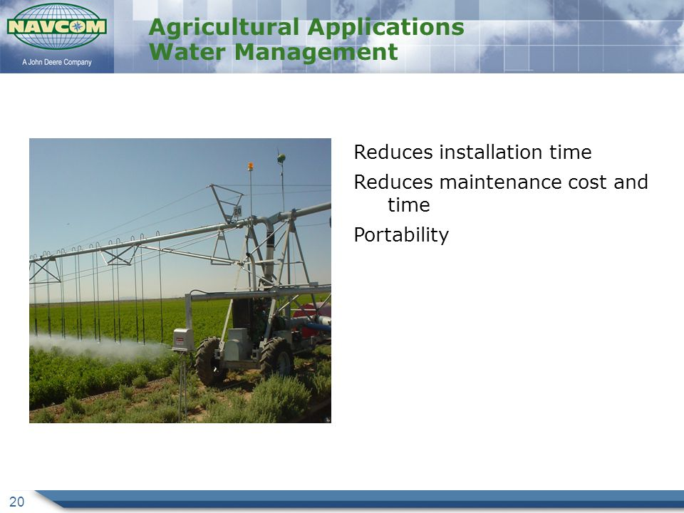 Agricultural Applications Water Management