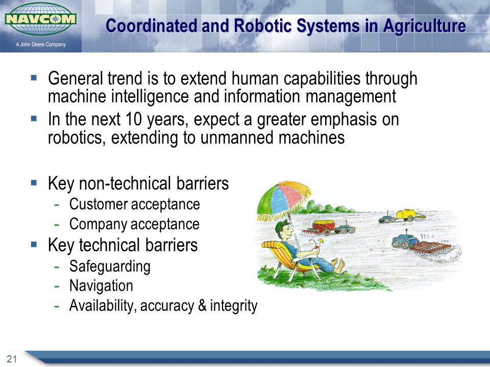Coordinated and Robotic Systems in Agriculture