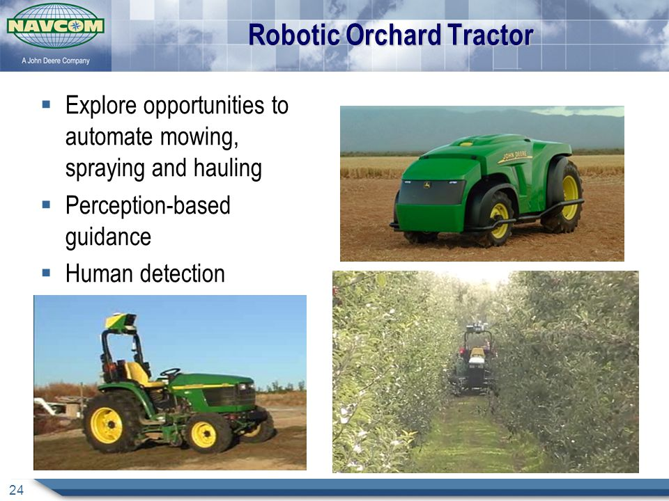 Robotic Orchard Tractor