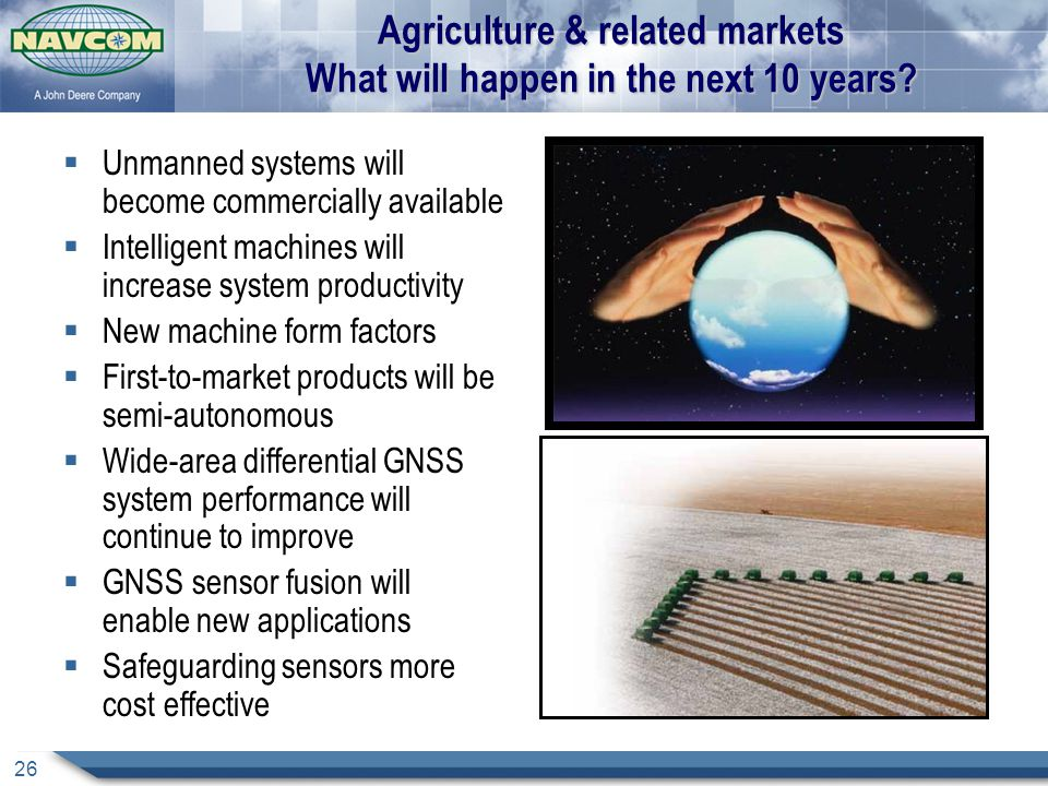 Agriculture & related markets What will happen in the next 10 years